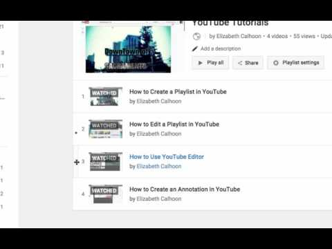 How to Edit a YouTube Playlist - UPDATED