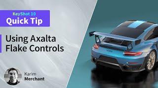 KeyShot 10 Quick Tip - Using Axalta Flake Controls