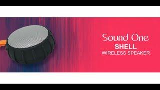 Sound One Shell bluetooth speaker