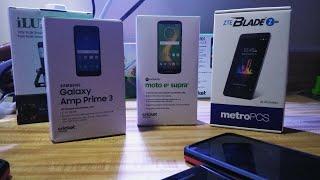 Zte Blade Zmax Xmax Vs Moto E5 Supra Vs Samsung Galaxy Amp Prime 3 Cricket Wireless VS MetroPCS