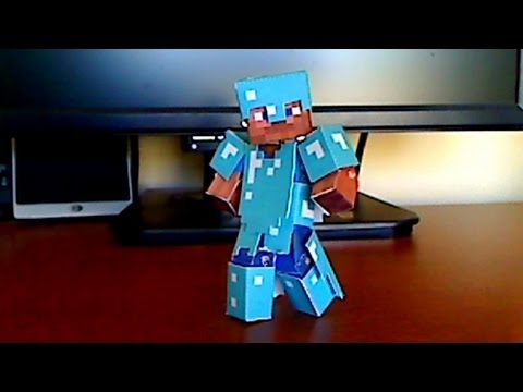 Papercraft How to make Minecraft Papercraft Armor for your Bendable Steve!