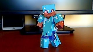 How to make Minecraft Papercraft Armor for your Bendable Steve!