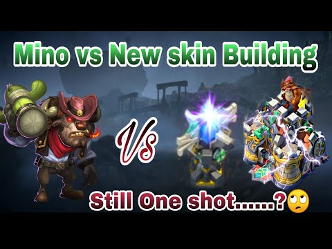 Guildwar | One Shot....? | Mino Vs New Skin Tower And Townhall | Castle Clash