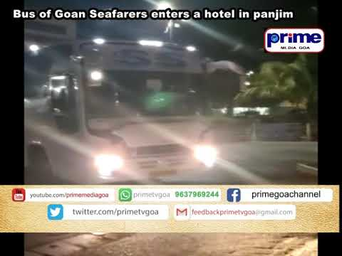 Bus Of Goan Seafarers Enters A Hotel In Panjim#PRIMEGOA #GOANEWS #NEWSINGOA #TV_CHANNEL #GOA