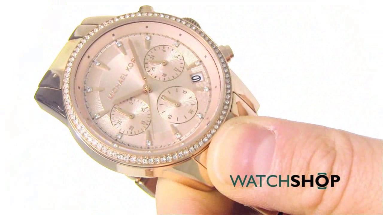 735a9ed37acd Michael Kors Ladies  Ritz Chronograph Watch (MK6493) - YouTube