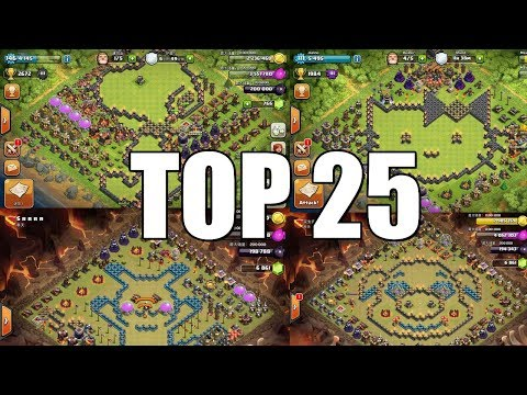 Clash of Clans - TOP 25 FAMOUS CARTOON Base Design Compilation