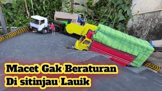 Truck Trailer ini bikin macet di Sitinjau Lauik| || versi miniatur truk kardus