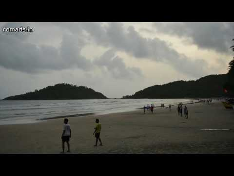 Timelapse of Palolem Beach, South Goa, India (2016-08-11)