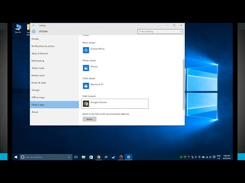 Windows 10 Tips - Changing the Default Apps