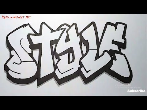Menggambar Grafiti Text Style Keren Youtube