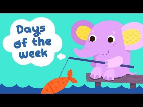 Days of the week song for kindergarten kids | Children songs with lyrics