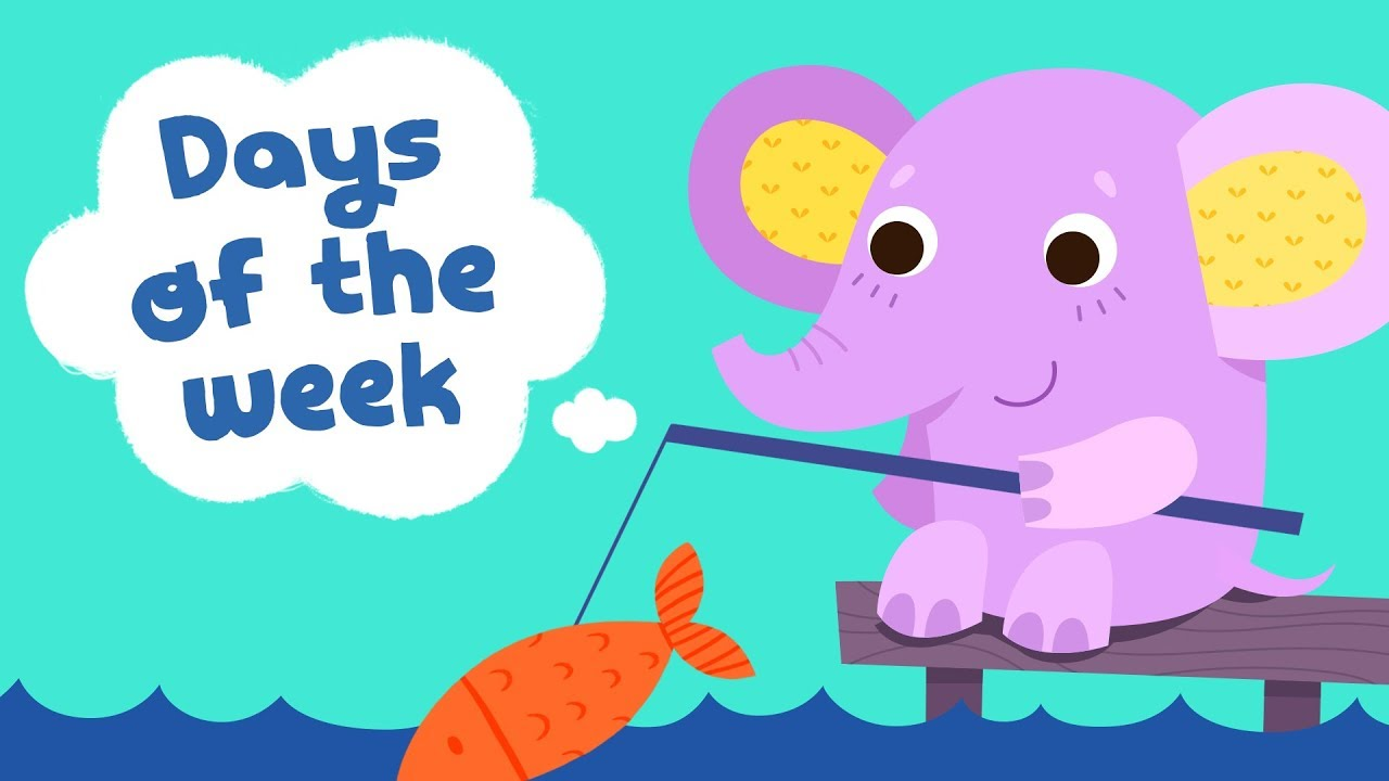 days of the week song for kindergarten kids children songs with rh youtube com funny days of the week clip art days of the week clipart black and white