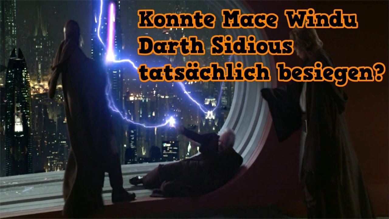 konnte mace windu tats chlich darth sidious besiegen. Black Bedroom Furniture Sets. Home Design Ideas