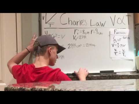 Demonstrating Boyle's and Charles's Law