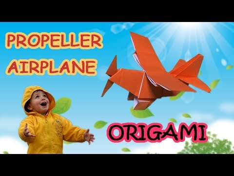 Cool Origami Airplane Tutorial | How to Make a Paper Propeller Ailplane Step by Step | DIY Craft