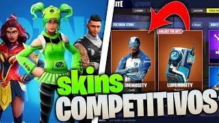 "FORTNITE ? COMPETITIVE SKINS ""optic gaming""luminosity""splyce and more fortnite"