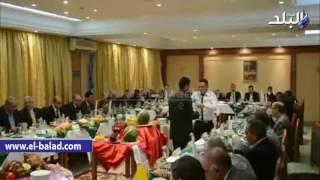 بالفيديو.. محافظ المنيا ومدير الأمن يشهدان حفل إفطار الجامعة