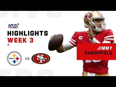 Jimmy Garoppolo Week 3 Highlights vs. Steelers | NFL 2019