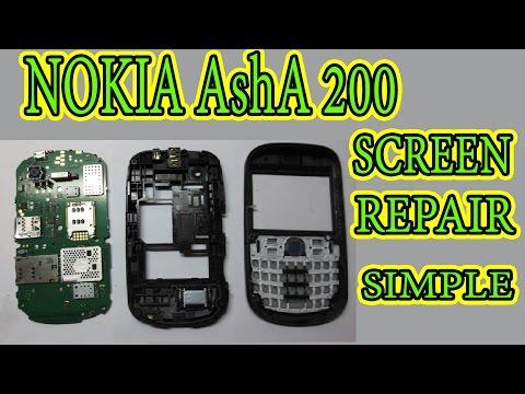 Nokia Asha 200 screen and speaker repair