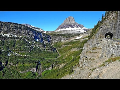 Going-To-The-Sun Road, Glacier National Park, Montana, USA in 4K (Ultra HD)