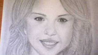 My selena gomez drawing (better picture ...
