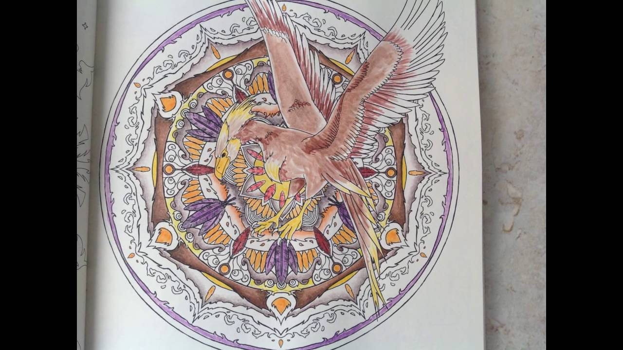 Tutorial Harry Potter Magical Creatures Coloring Book The Phoenix