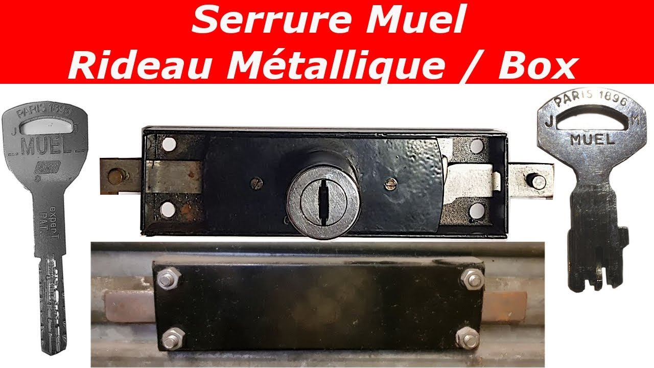 tuto comment changer une serrure de rideau metallique muel youtube. Black Bedroom Furniture Sets. Home Design Ideas