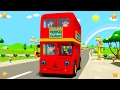 Wheels On The Bus | Baby Nursery Rhymes Collection By Little Treehouse | 3d Kindergarten Kids Songs video