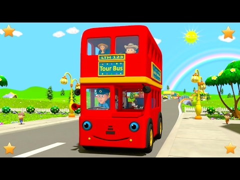 Wheels On The Bus | Baby Nursery Rhymes Collection by Little Treehouse | 3D Kindergarten Kids Songs