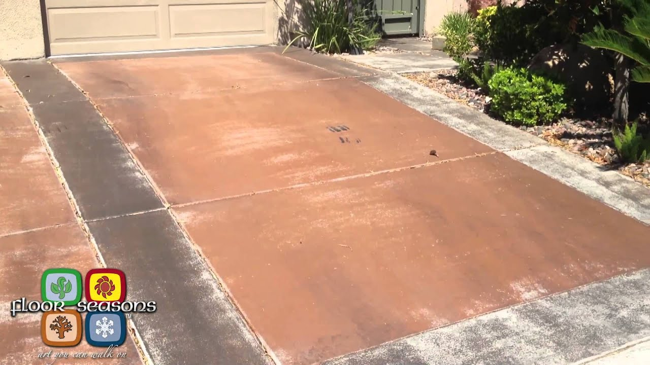 Floor Seasons Concrete Driveway Staining Transformation