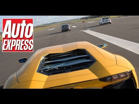 Lamborghini Aventador vs Ferrari FF Drag Race - YouTube