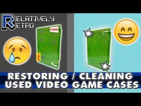 Restoring Used Video Game Cases / Cleaning Video Game Cases