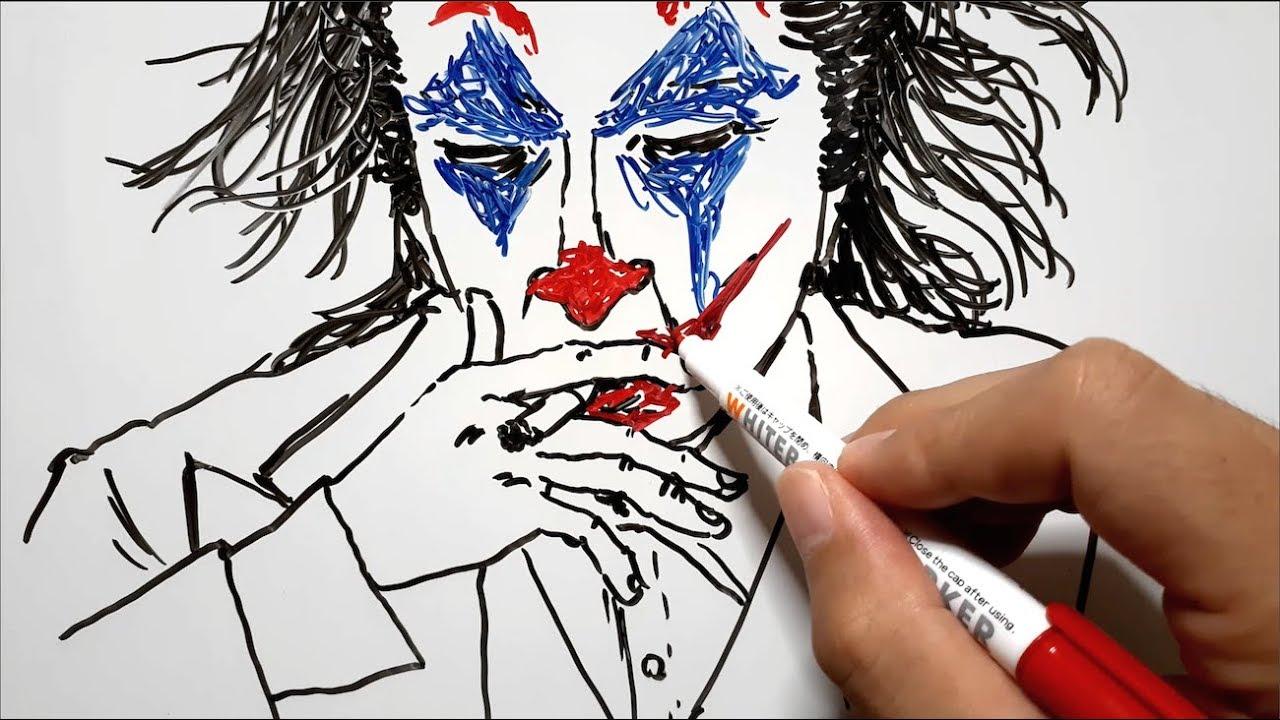 【イラスト】映画『ジョーカー(JOKER)』を描いてみた。
