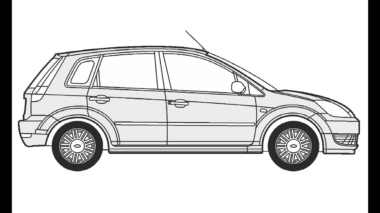 how to draw a ford fiesta v     u041a u0430 u043a  u043d u0430 u0440 u0438 u0441 u043e u0432 u0430 u0442 u044c ford fiesta v