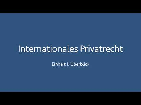 Internationales Privatrecht 01
