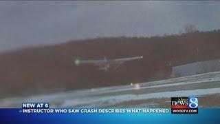 Flight instructor records crash: