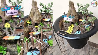 Zero Budget Miniature Garden with DIY Accessories/ Miniature Garden/ Garden Decor-7 Hello, everyone!! Thank you for your interest in CRAFT CLUB. In this ...