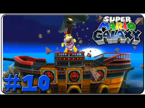 Super Mario Galaxy Walkthrough Part 10 Bowser Jr.'s Airship Armada