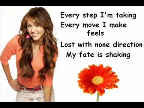 Miley Cyrus - The Climb Lyrics version!