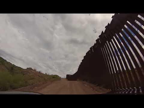 Driving US/ Mexico Border Wall