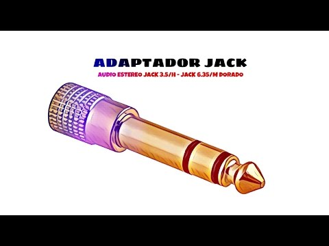 Video de Adaptador audio estereo jack  3.5/H - JACK 6.35/M  Dorado