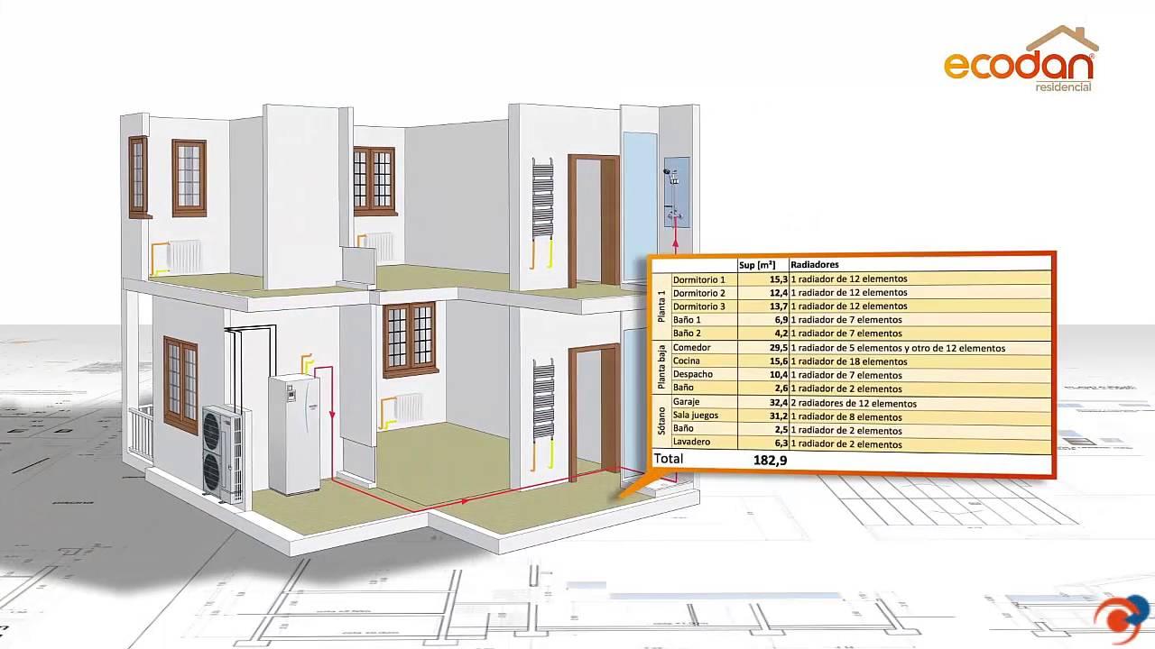 Software de simulaci n avanzada ecodan para c lculo en vivienda con radiadores youtube - Sistemas de calefaccion para viviendas unifamiliares ...