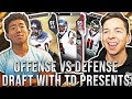 OFFENSE VS DEFENSE DRAFT CHALLENGE W/ TDPRESENTS! Madden 18 Draft Champions