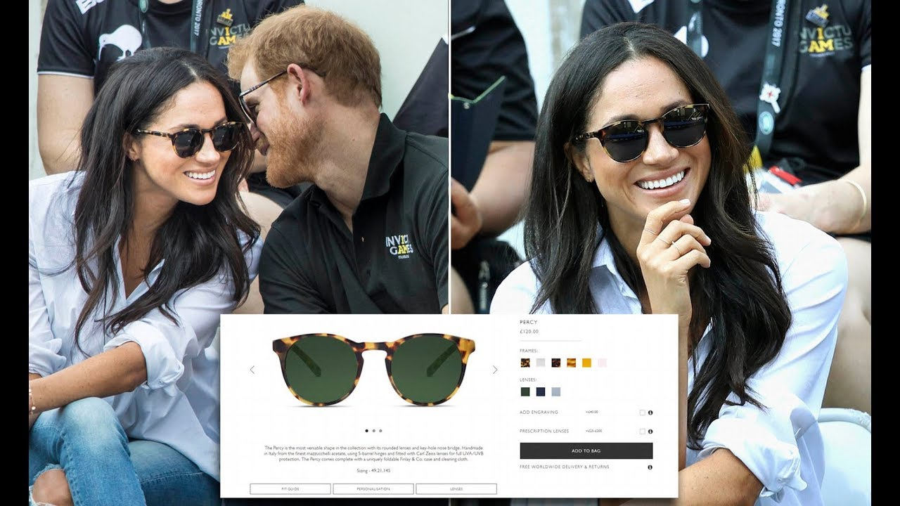 be75f73c82 Meghan Markle s £120 tortoiseshell sunglasses finally back in stock with  Prince Harry