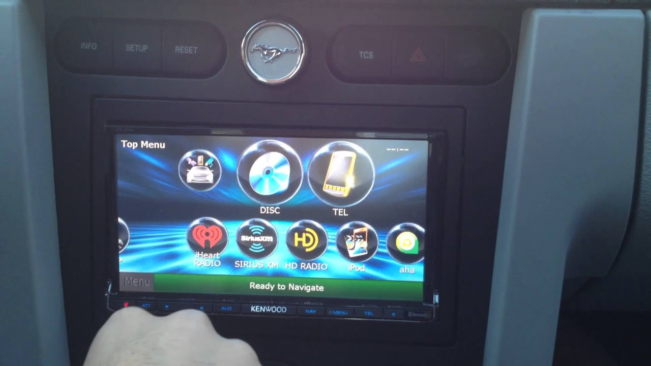 hight resolution of 2007 ford mustang gt installed a kenwood dnx890hd interfaced with idatalink maestro