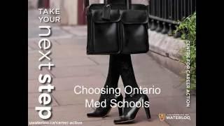 Admission Tips: Choosing Ontario Med Schools