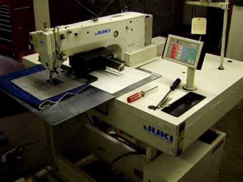 Mitsubishi PLK 40 Cap Visor Programmable Sewing Machine Action Magnificent Juki Ams224e Programmable Sewing Machine
