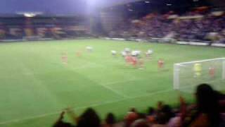 Notts County's second goal against Liverpool July 31st 2009. Thumbnail