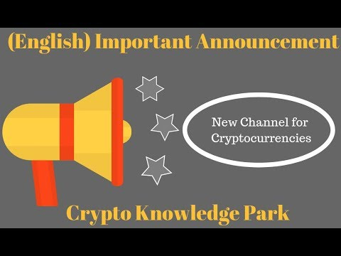 (English) Channel Important Announcement | New channel for Cryptocurrencies