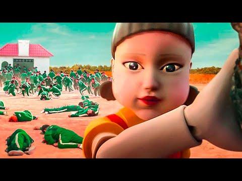 456 человек участвуют в детских играх на выживание (ИГРА В КАЛЬМАРА: пересказ 1-3 серий)